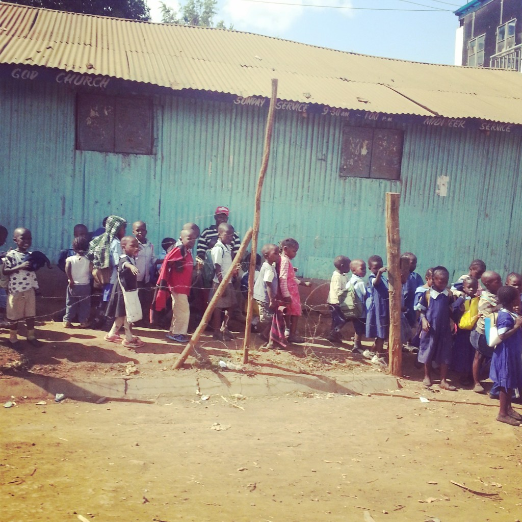 The Children of Kibera outside of their school, October 2014