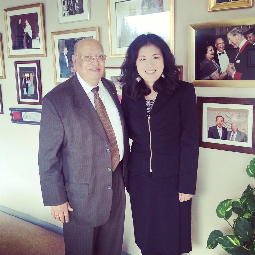 Kristin with Lord Loomba at his office in London, England. 2014