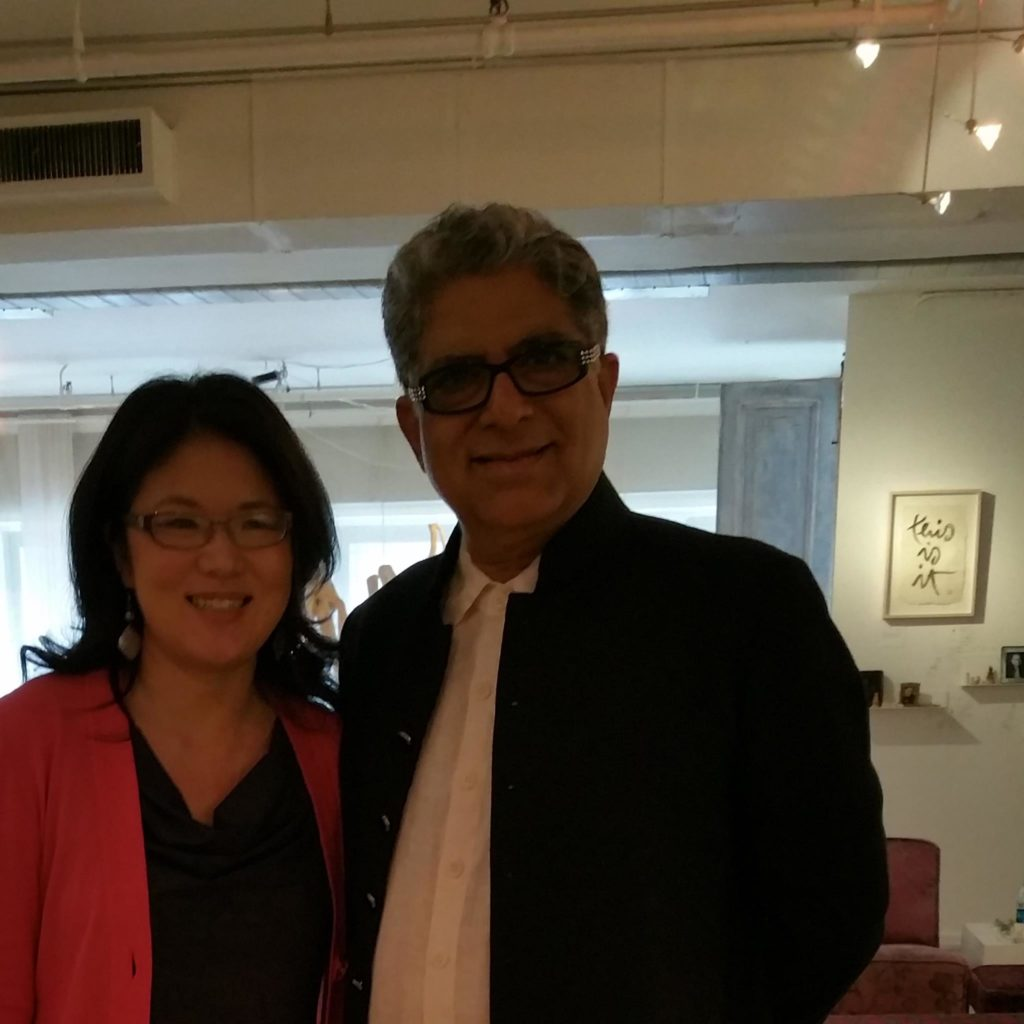 Deepak Chopra MD with me in New York City - June 8, 2016