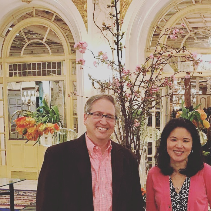 Michael Silvio with me at the Fairmont Hotel in Boston- the venue for the conference.