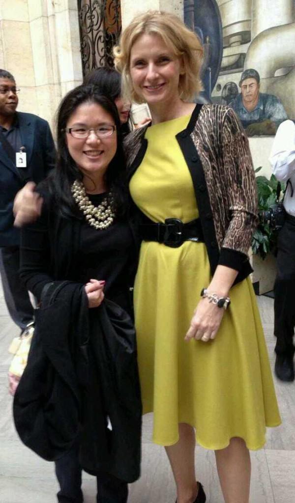 Kristin Meekholf with Elizabeth Gilbert