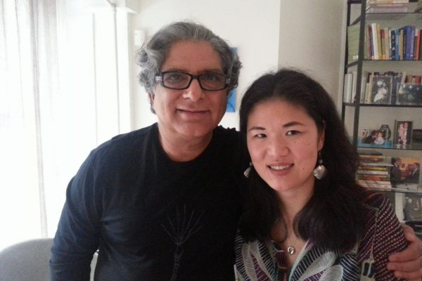 Kristin Meekhof with Deepak Chopra, MD, FACP, January 2014, the first time met him.