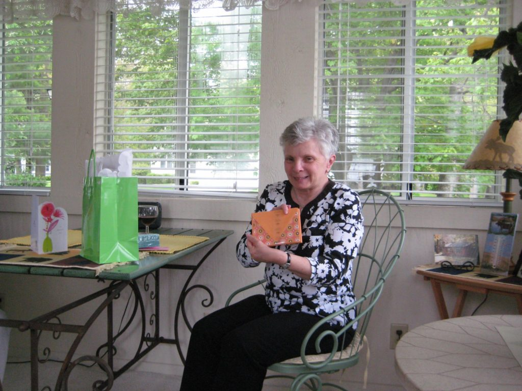 My mother on Mother's Day 2012